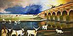 Csontváry Kosztka Tivadar: Vihar a Hortobágyon (id: 19699) vászonkép