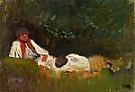 Mednyánszky László: Pihenő szerelmespár (id: 19999) poszter