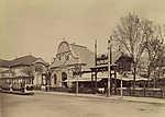 Millenniumi kiállítás, Balatoni csárda épület (1896) (id: 20199) falikép keretezve