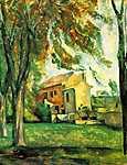 Paul Cézanne: Tavacska a Jas de Bouffanban, télen (id: 499) vászonkép