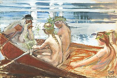 Vainamoinen with Maidens, Akseli Gallen-Kallela