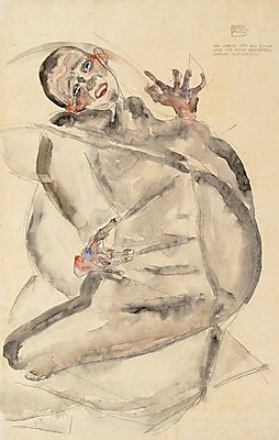 I will gladly endure for art and my Loved Ones, Egon Schiele