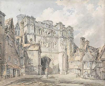 A Christ Church Gate, Canterbury, William Turner