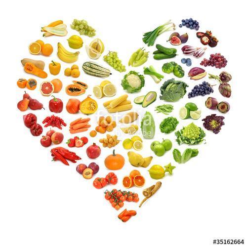 A gyümölcsök és zöldségek szivárvány szíve, Premium Kollekció