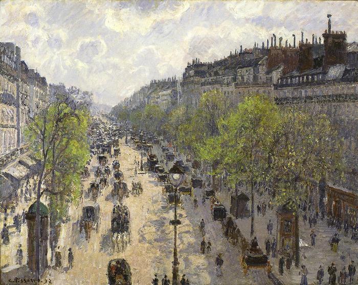 A Montmartre sugárút tavasszal, Camille Pissarro