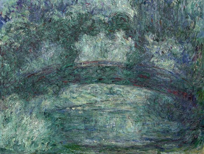 A japán híd Givernyben (1920 körül), Claude Monet