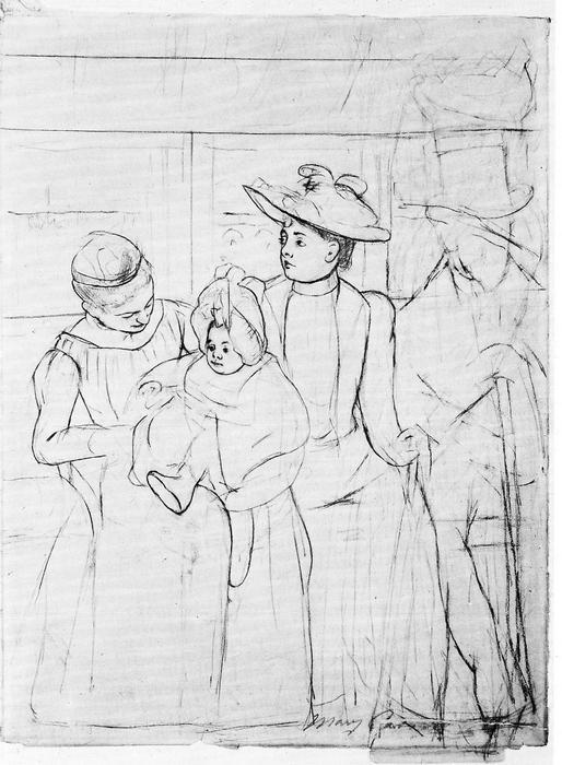 A buszon, Mary Cassatt