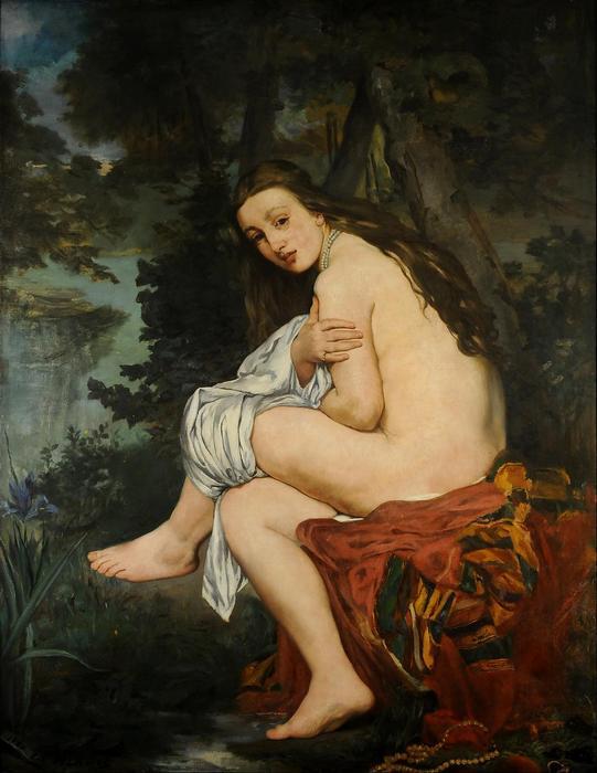 Meglepett nimfa (1861), Edouard Manet