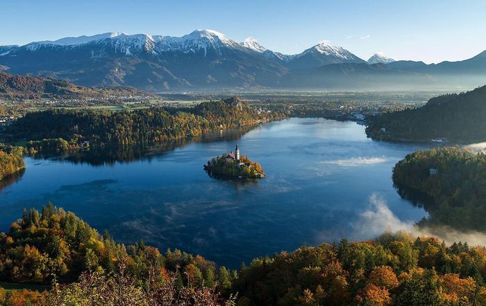 A Bled tó térsége, Szlovénia - Légifelvétel, Partner Kollekció