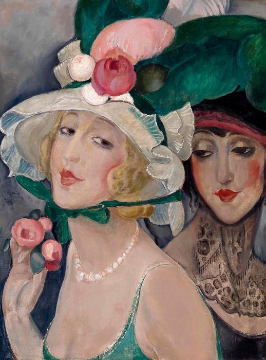 Kalapos hölgyek portréja, Gerda Wegener