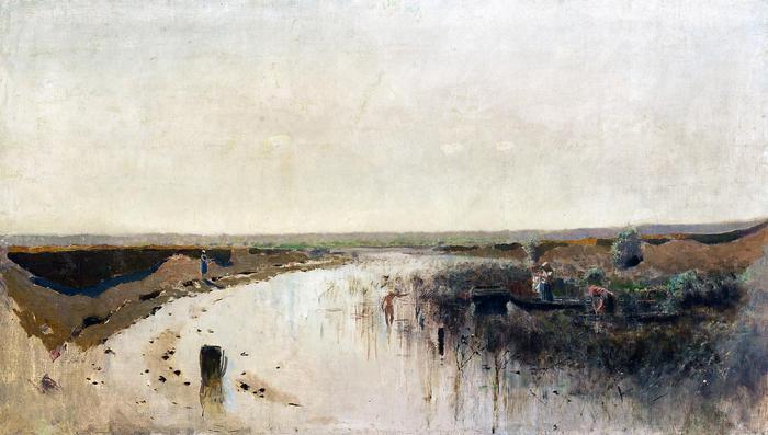 Nyári táj, folyóval (színverzió 1.), Mednyánszky László