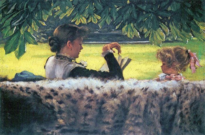 Meseolvasás, James Tissot