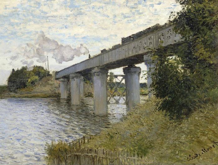 Vasúti híd Argenteuil-nél (1873-1874), Claude Monet