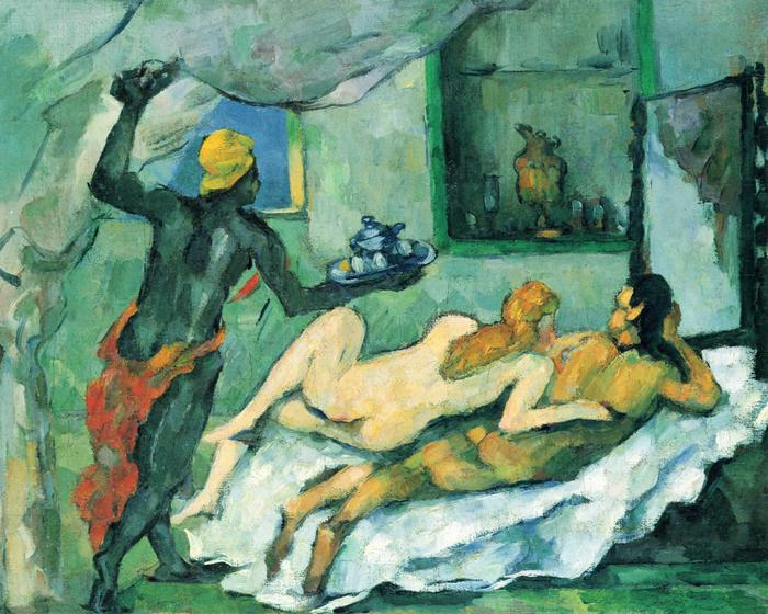 Délután Nápolyban (néger szolgálóval), 1876-1877, Paul Cézanne