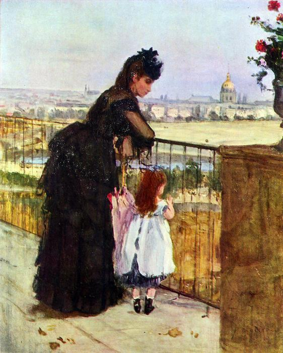 Erkélyen, Berthe Morisot
