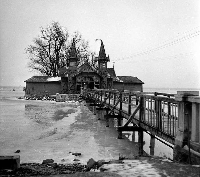 Sziget-strand, Keszthely (1958), FORTEPAN