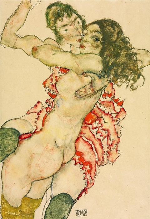 Ölelkező nők, Egon Schiele