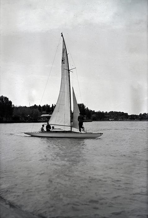 Vitorlás Siófoknál (1940), FORTEPAN