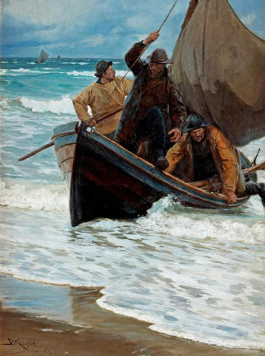 Halászok hazatérése, Peder Severin Kroyer