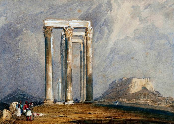 A Jupiter templom oszlopai (színverzió 1.),
