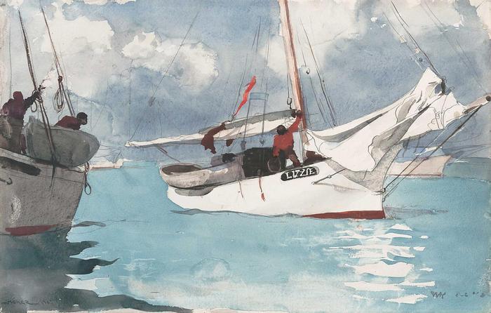 Halászcsónak Key West-nél, Winslow Holmer