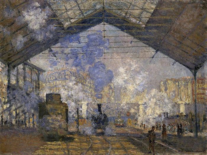 A Saint-Lazare  pályaudvar (1877), Claude Monet
