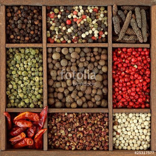 A borsó és a chili választéka fadobozban, Premium Kollekció