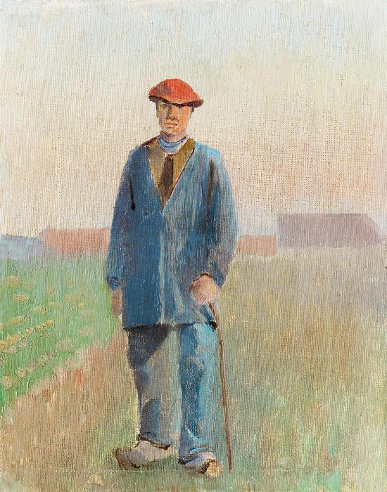 Vidéki férfi, sétabottal, Mednyánszky László