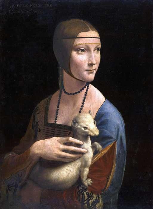 Hölgy hermelinnel (színverzió 1), Leonardo da Vinci