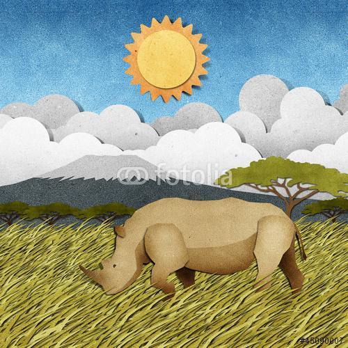 Rhino újrafeldolgozott papírhordozó háttér, Premium Kollekció