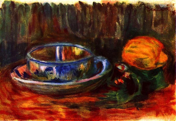 Csendélet csészével, Pierre Auguste Renoir