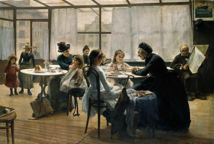 Vizsga után (1890), Halmi Artur