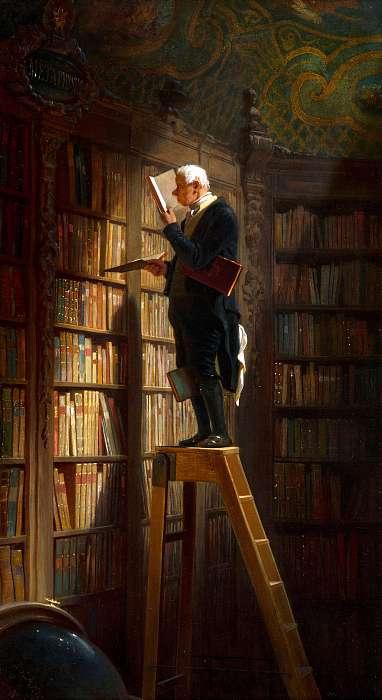 A könyvmoly, Carl Spitzweg