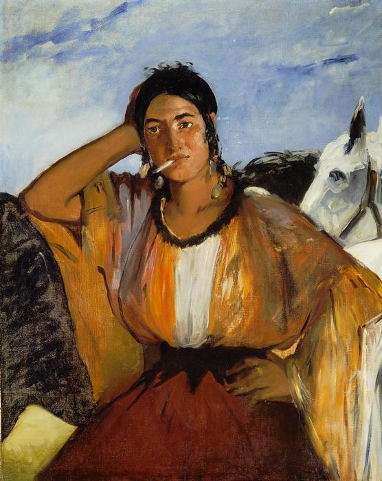 Dohányzó cigányasszony (1862), Edouard Manet