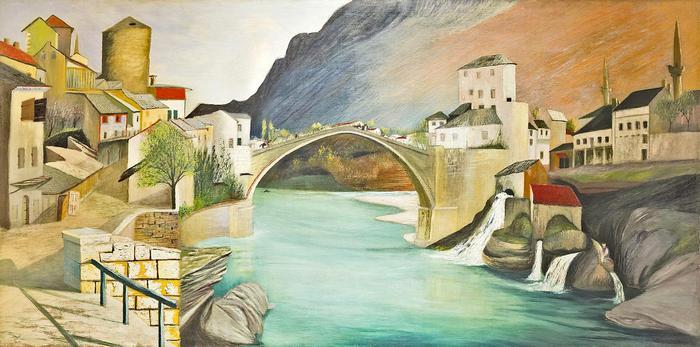 A Római híd Mosztárban (színverzió 2.), Csontváry Kosztka Tivadar