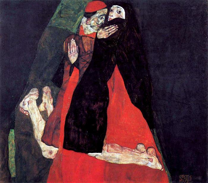 A bíboros és az apáca, Egon Schiele