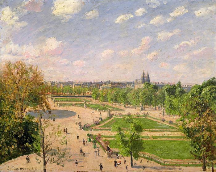 A Tuilériák kertje, tavaszi reggel (1899), Camille Pissarro