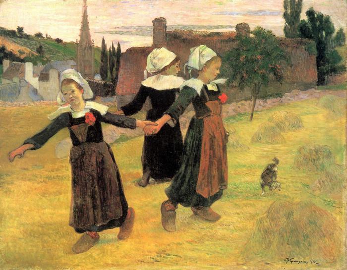Breton-i kislányok, Paul Gauguin