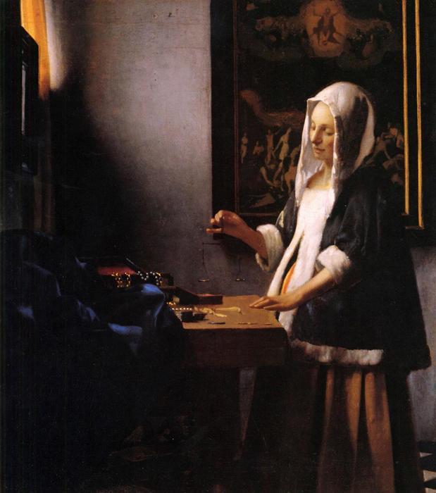 Asszony mérleggel, Jan Vermeer