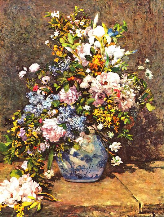 Csendélet, kék vázával, Pierre Auguste Renoir