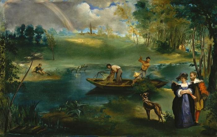 Horgászás, Edouard Manet