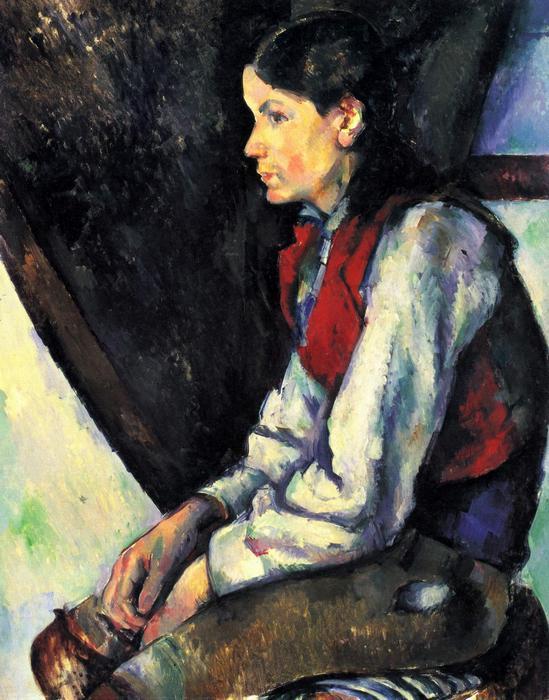Fiú vörös mellényben, 1888-1890, Paul Cézanne