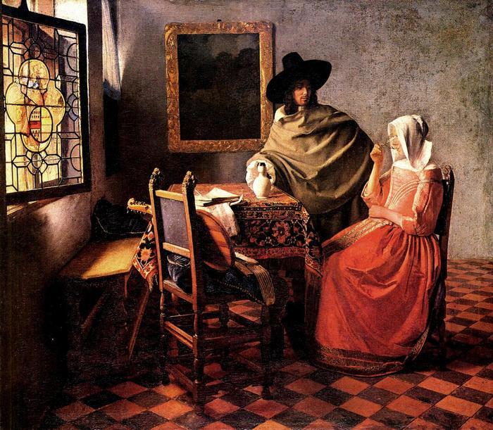 Egy üveg bor, Jan Vermeer