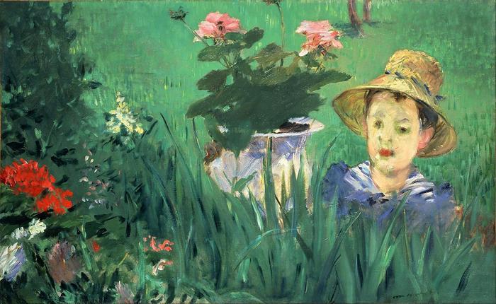 Fiú virágok között (Jacques Hoschedé), Edouard Manet