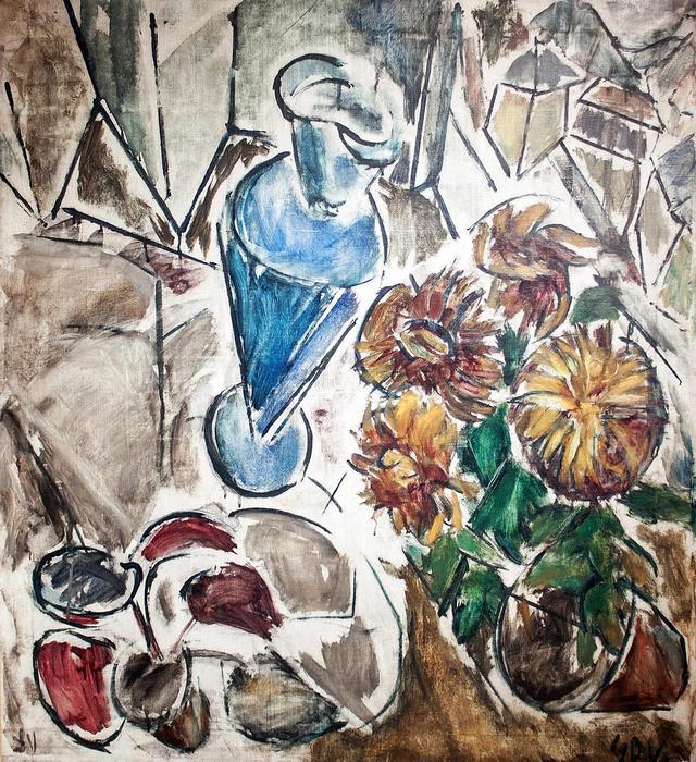 Virág csendélet, Dénes Valéria