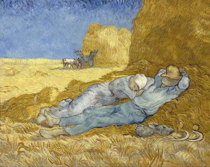 KÉPÁRUHÁZ.HU : Délutáni pihenő (Vincent Van Gogh) c. fényképes VÁSZONKÉP  ÓRA rendelése, vásárlása