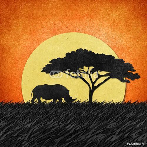 Rhino újrahasznosított papíralapú háttérrel, Premium Kollekció