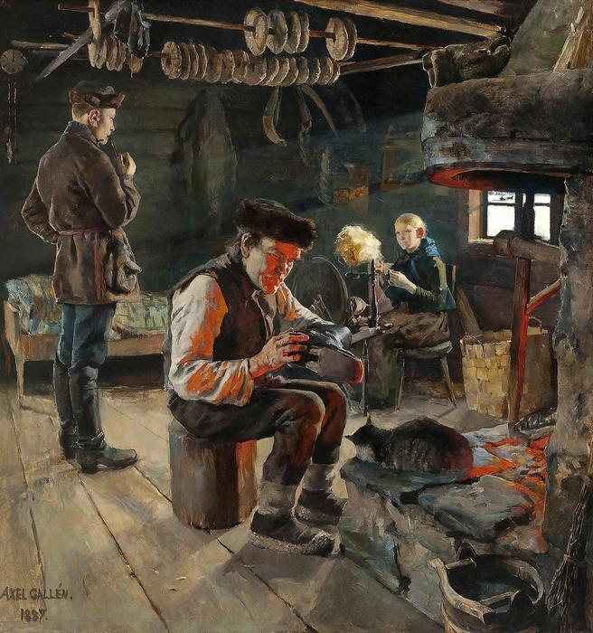 Vidéki élet (1887), Akseli Gallen-Kallela