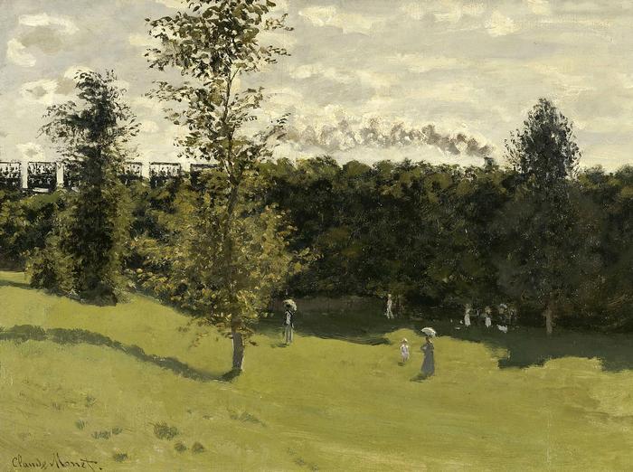 Vonat, vidéken (1870 körül), Claude Monet