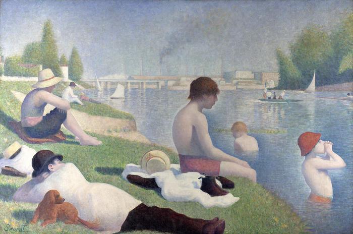 Fürdőzés Asnières-ban, Georges Seurat